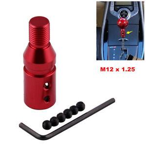 Automotive Car Shift Knob Shifter Adapter Universal M10 X 1.5 Kit Aluminum Red