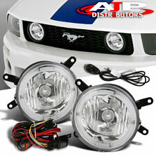 Clear Grille Led Halo Fog Lights Lamp Wiring Switch For 2005 2009 Ford Mustang Fits Mustang