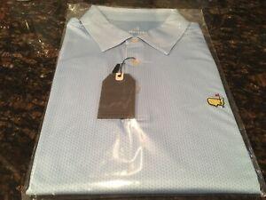 Masters Tech Light Blue Performance Golf Shirt XL NEW Augusta National 2020