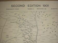 Old Antique Ordnance Map 1901 Merionethshire XXXVIII.15 Mynydd Gartheiniog ...