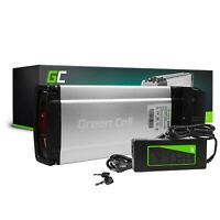 E-Bike Akku 24V 8.8Ah Li-Ion Elektrofahrrad Rear Rack Batterie + Ladegerät