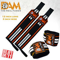 DAM WEIGHT LIFTING GYM TRAINING WRIST SUPPORT STRAPS WRAPS BODYBUILDING GLOVES
