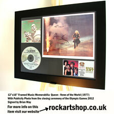 Queen SIGNED BY BRIAN MAY News Of The World 2012 Photo Autograph Freddie Mercury