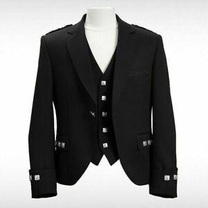 Scottish Argyle Kilt Jacket With Waistcoat/Vest size 42 (See desription)