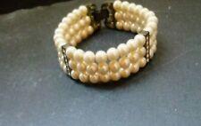 Vintage pearl ,and rhinstone bracelet
