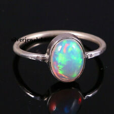 Ethiopian Opal 925 Sterling Silver Band Ring Handmade Plain ring Jewelry kd8760