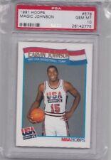PSA 10 EARVIN MAGIC JOHNSON 1991-92 HOOPS OLYMPIC USA DREAM TEAM #578 GEM MINT