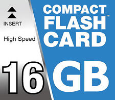 Tarjeta de memoria 16 GB Compact Flash Mapa CF para Canon EOS 7D Cámara Digital
