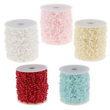 1 Roll 4mm Pearl Beaded Strands Garland Wedding Party Event Home Decor 60m