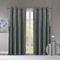 Glitter Sparkle Metallic Drape Bling Effect Eyelet Thermal Blackout Curtains