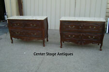 60308 Pair Marble Top Louis Xv Dresser Chest Sideboards Cabinets