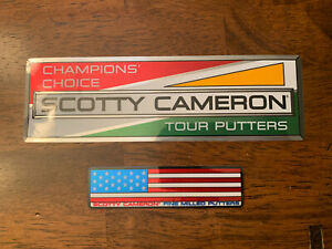 Scotty Cameron Stickers Champions Choice And US OPEN American Flag New.