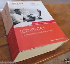 ICD-9-CM PROFESSIONAL Ingenix 2009 /HIPAA For Physicians-Volumes 1 & 2 Free Ship