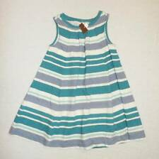 Tea Collection striped knit tank dress blue gray white size 4 NWT HCB