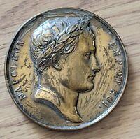 Antique French Napoleon Bronze Medal Andrieu Capture Ulm Memmingen