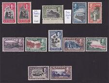 Ceylon. 1935. SG 368-378, 2c to 1r. Mounted mint.