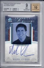 2004-05 SPS Celebrity Signings Mark Cuban BGS 9/10 Auto World Champion Owner !!