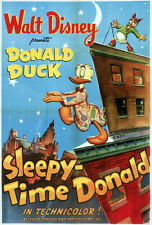 Sleepy Time Donald Dibujos Animados Disney Cartel de Película Estampado