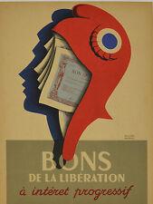 Affiche ancienne  - BONS DE LA LIBÉRATION,- R ANSIAU