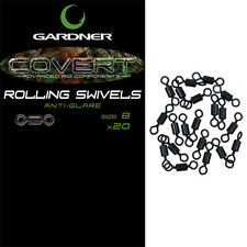 Gardner Tackle Covert Rolling Swivel Size 8 Carp Coarse Fishing