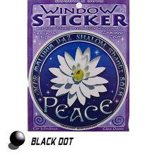 Peace Lotus Aufkleber Fensterbild Sticker Zweiseitig Shanti Shalom Frieden