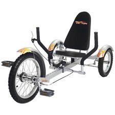 "Mobo TriTon 16"" 3 WHEEL Tricycle RECUMBENT Bike Silver ( Youth)"