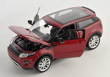 BLITZ VERSAND Land Rover Range Evoque 2011 bordeaux 1:24 Welly Modell Auto NEU