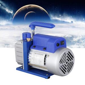 1Stage 2.5CFM Rotary Vane Vacuum Pump 1/4HP HVAC AC Refrigerant Air Conditioning