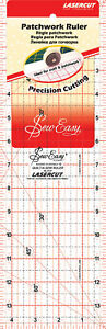 SEW EASY Quilting Ruller Tool Template Clear Acrylic Rectangle 14IN X 4.5IN