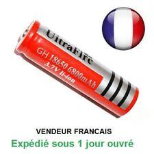 Batterie rechargeable pile accus 6800 mAh 3.7V Li-ion BRC18650 led