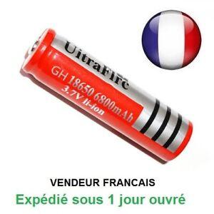 Batterie rechargeable pile accus 6800 mAh 3.7V Li-ion BRC led