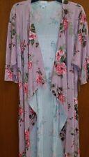 NWT LuLaRoe Medium Shirley Kimono Pink Floral Roses RARE GORGEOUS UNICORN