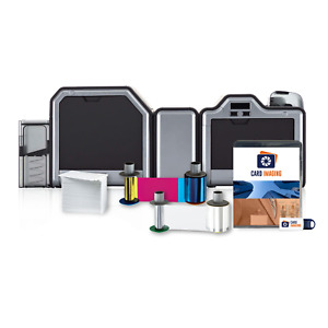 Fargo HDP5000 Dual Side, w/ Lamination & Encoder Supplies (100 day warranty)