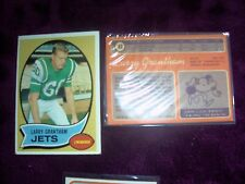 1970 TOPPS Football CARDS # 82, 2 each LARRY GRANTHAM NEW YORK JETS BOTH VF