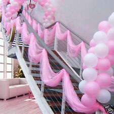 "10 Yards Organza Fabric 60"" Party DECOR baby shower sweet 16 quinceanera PINK"
