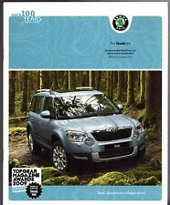 Skoda Yeti January-March 2010 UK Market Sales Brochure E S SE Elegance