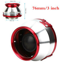Universal 3in/76mm Red Aluminum Car Induction Intake Air Filter High Performance