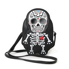 Sugar Skull Day of the Dead Skeleton Crossbody Bag Purse Alternative Kawaii Punk