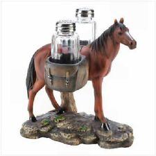 Pack Horse Salt & Pepper Shaker Set - Nib