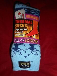 1 Pair Polar Extreme Insulated Thermal Socks Women  Made USA 9-11