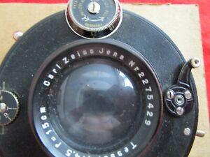 Vintage Carl Zeiss Jena Compur Tessar 1:4.5 15cm Lens & Shutter