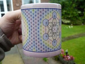 COLOUR CHANGING MUG: Sacred Geometry Metatron's Cube & Flower of Life Mug/Cup.