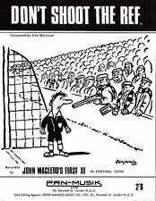 No disparen contra la Ref-John Macleod la primera XI - 1966 Partituras