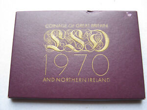 Royal Mint 1970 coinage of Great Britain pre-decimal proof coin set