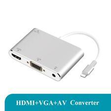 IPhone a HDMI + VGA ADAPTADOR CABLE Apple teléfono conexión HD TV Cable de proyector