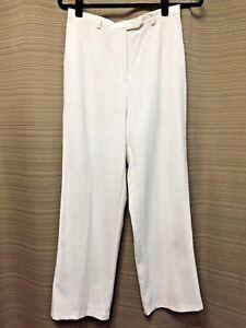 White Ivory Sag Harbor Linen Blend  Pants Sz 8 Petite