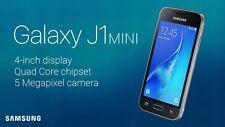 BRAND NEW Samsung Galaxy J1 Mini BLACK 8GB (2016) DUAL SIM UNLOCKED SMARTPHONE
