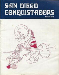 1974-75 San Diego Conquistadors Vs New York Nets Program ABA Dr. J.