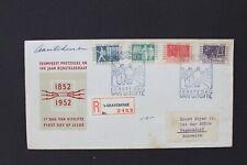 NEDERLAND 1952 Aangetekende  FDC ITEPzegels  naar Zwitserland NVPH E9