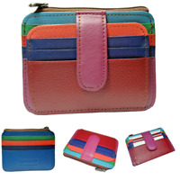 Wallet Leather Portable Card Holder purse Women mini small case credit card ID